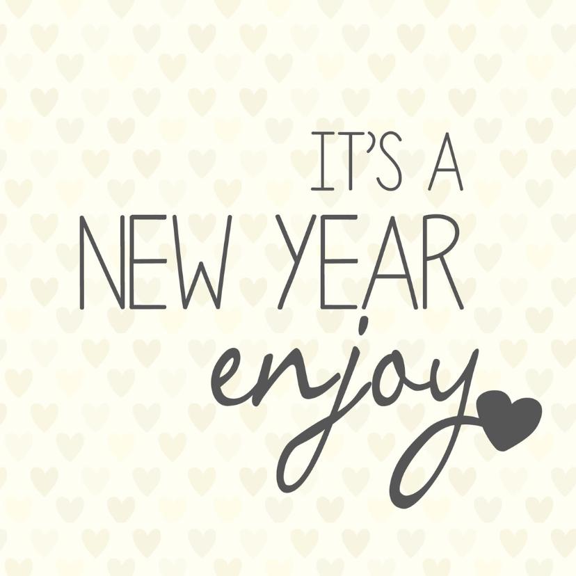 Nieuwjaarskaarten - Nieuwjaarskaart It's a new year
