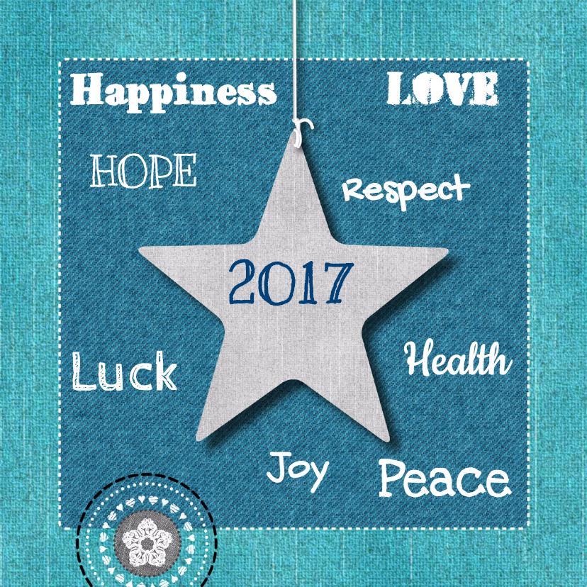 Nieuwjaarskaarten - Nieuwjaarskaart jeans