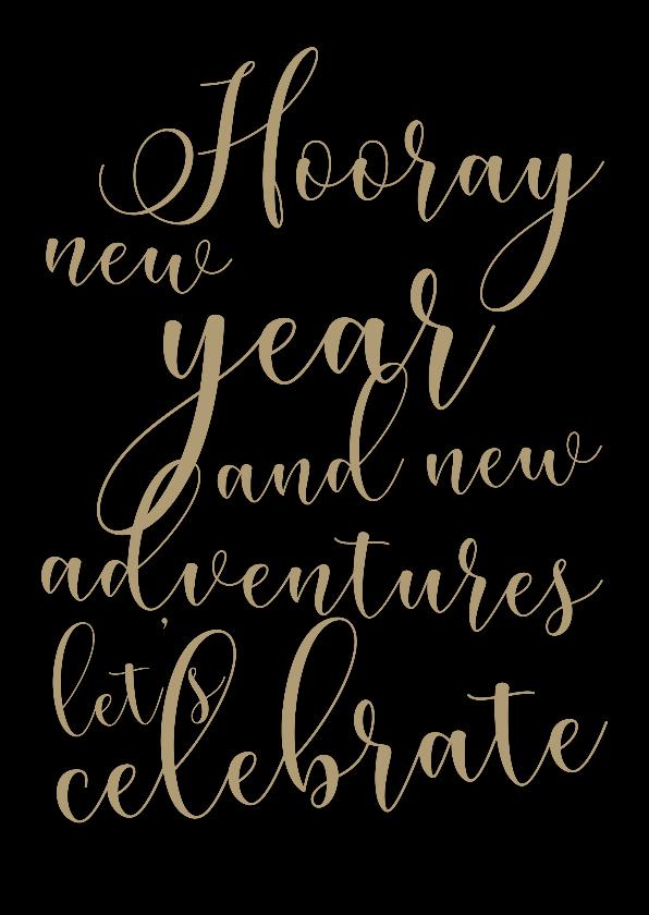 Nieuwjaarskaarten - Nieuwjaarskaart Let's celebrate - SK