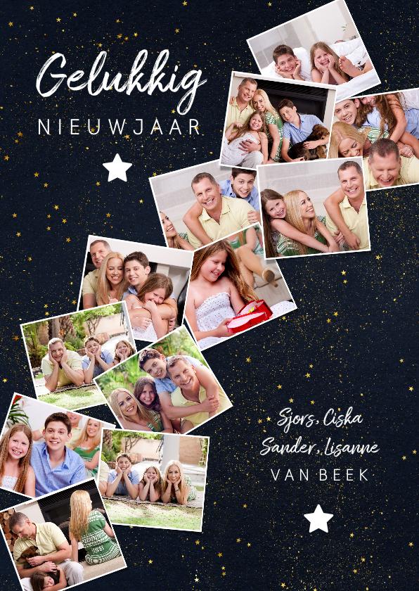 Nieuwjaarskaarten - Nieuwjaarskaart met 12 foto's collage van het jaar