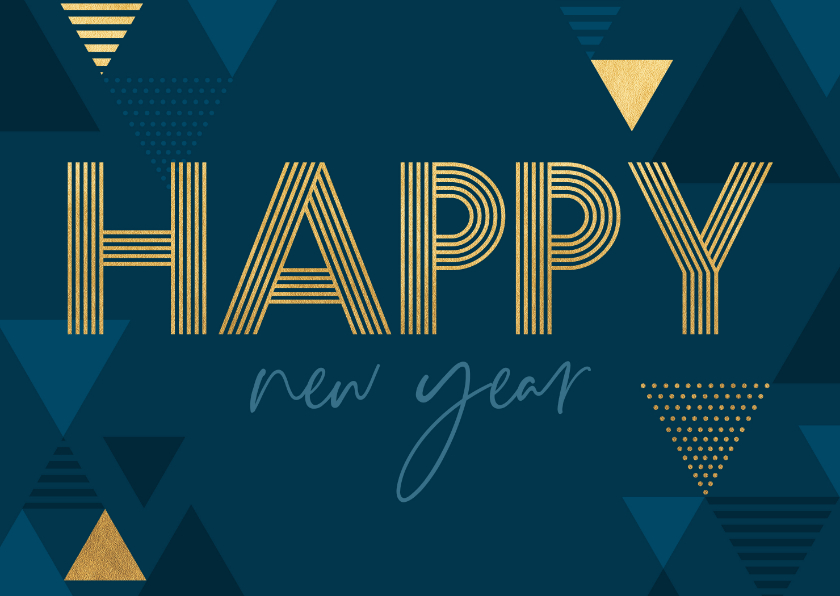 Nieuwjaarskaarten - Nieuwjaarskaart met driehoeken