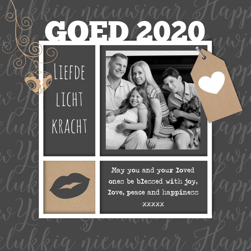 Nieuwjaarskaarten - Nieuwjaarskaart met liefdevolle tekst