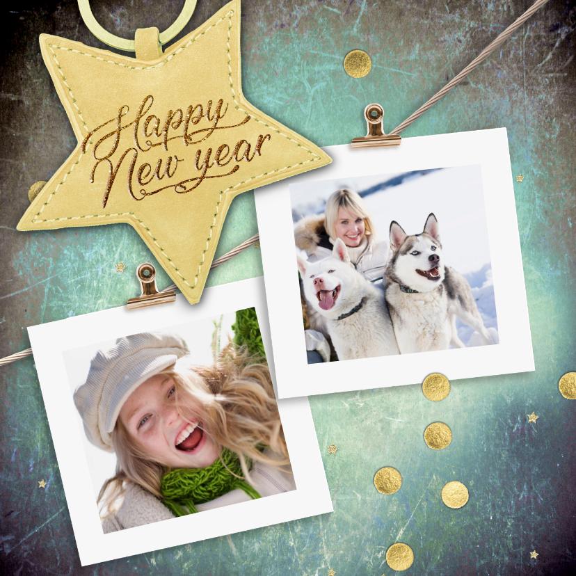 Nieuwjaarskaarten - Nieuwjaarskaart met sterlabel