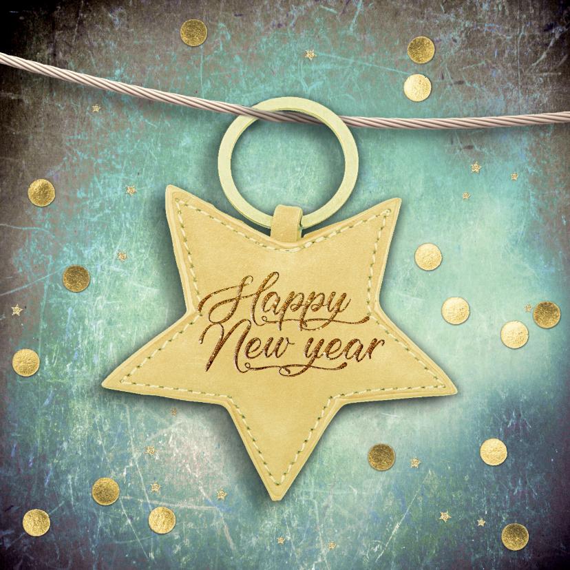Nieuwjaarskaarten - Nieuwjaarskaart met sterrenlabel