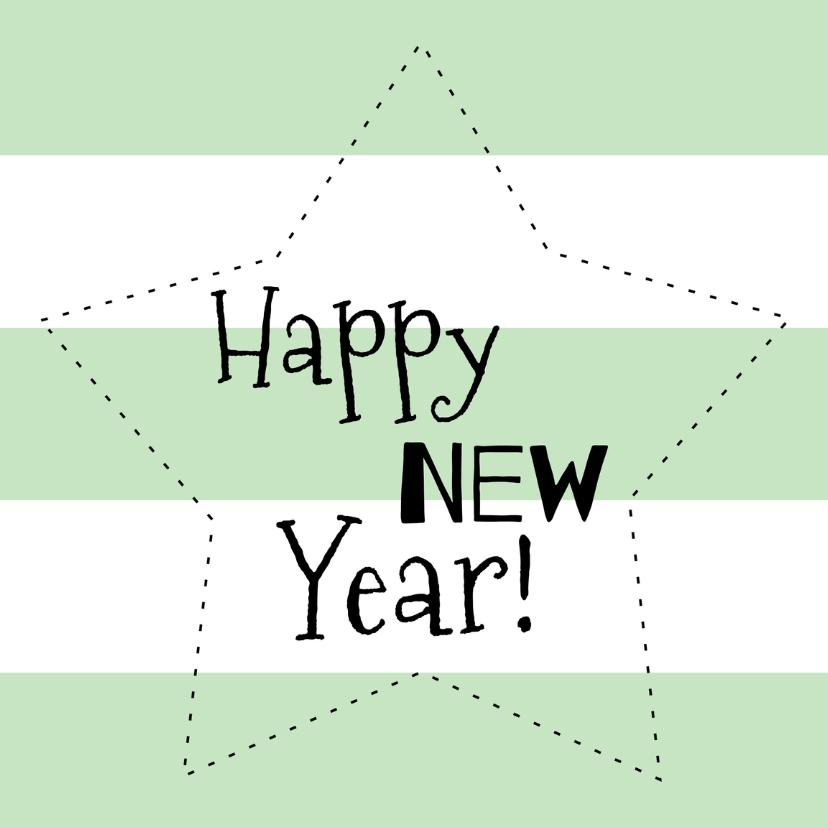 Nieuwjaarskaarten - Nieuwjaarskaart Mint Ster - WW