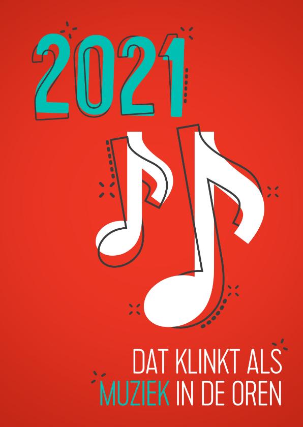 Nieuwjaarskaarten - Nieuwjaarskaart muziek in de oren