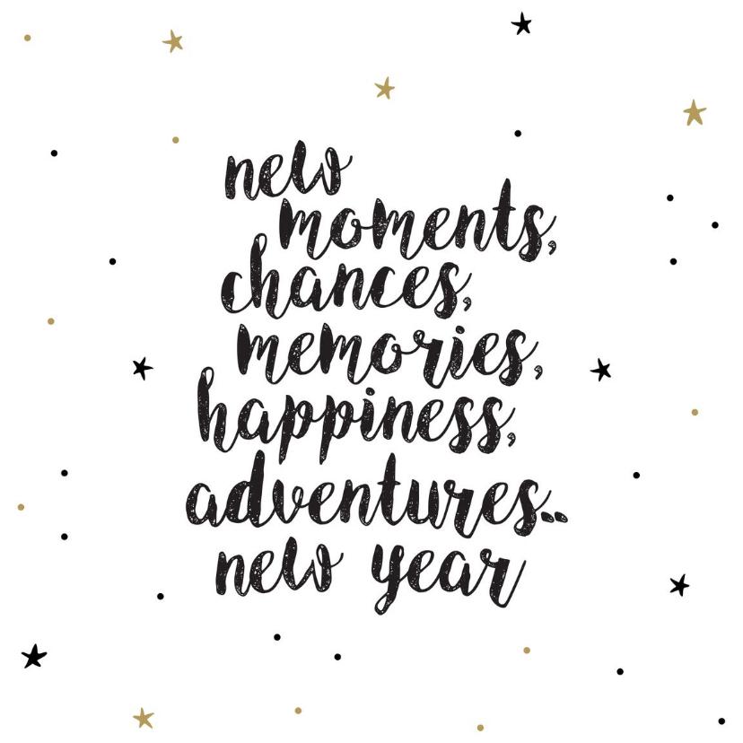 Nieuwjaarskaarten - Nieuwjaarskaart - new moments new adventures
