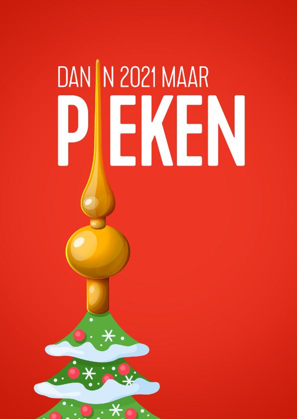 Nieuwjaarskaarten - Nieuwjaarskaart pieken in 2021