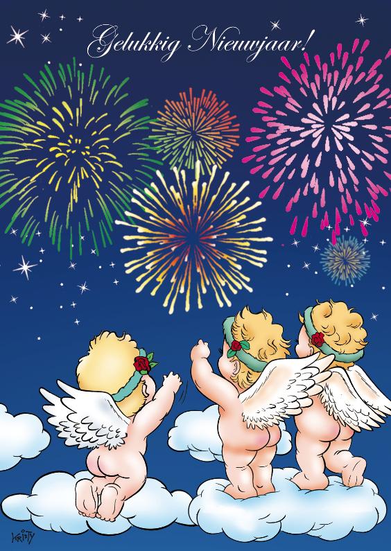 Nieuwjaarskaarten - Nieuwjaarskaart Ray Vuurwerk RN