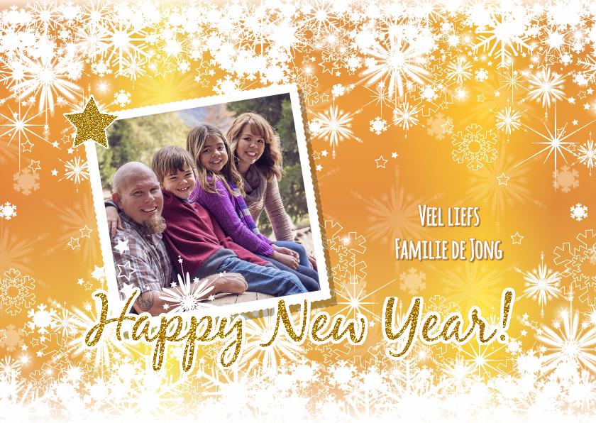 Nieuwjaarskaarten - Nieuwjaarskaart sfeervolle fotokaart