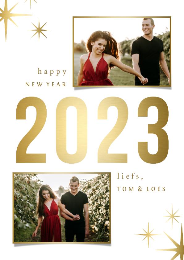 Nieuwjaarskaarten - Nieuwjaarskaart sparkle '2022' 2 foto's