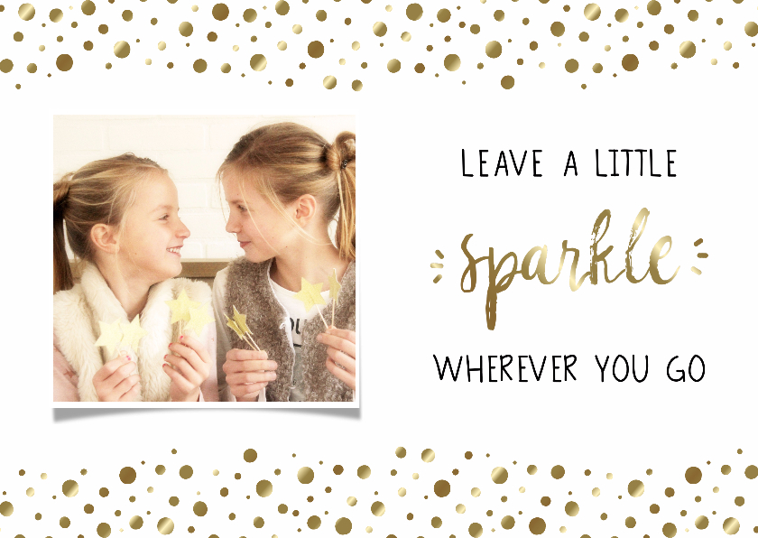 Nieuwjaarskaarten - Nieuwjaarskaart Sparkle, met foto - WW