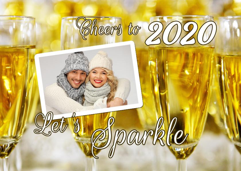 Nieuwjaarskaarten - Nieuwjaarskaart Sparkling New Year Cheers 2019