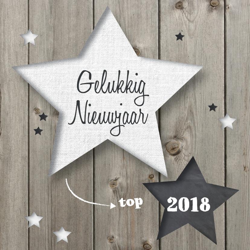 Nieuwjaarskaarten - nieuwjaarskaart Sterren - LOVZ