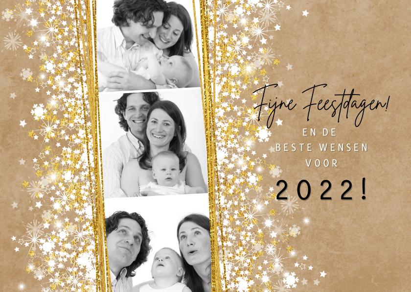 Nieuwjaarskaarten - Nieuwjaarskaart stijlvol foto kraft romantisch 2022