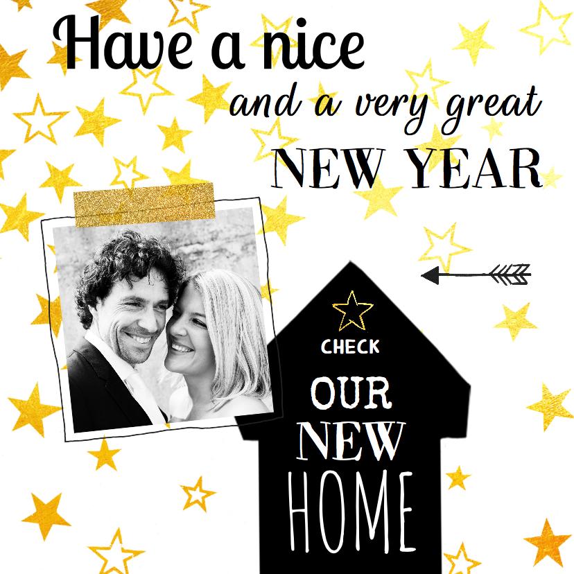 Nieuwjaarskaarten - Nieuwjaarskaart verhuizing ster