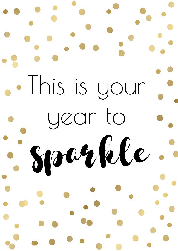 """Nieuwjaarskaarten - Nieuwjaarskaart """"year to sparkle"""""""
