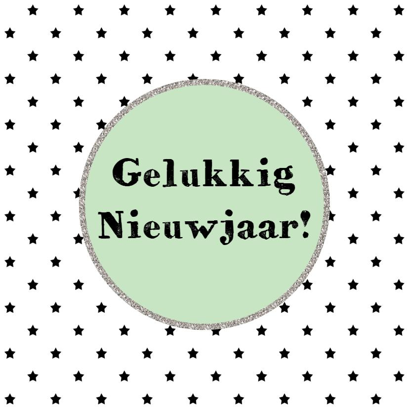 Nieuwjaarskaarten - Nieuwjaarskaart Zwart Wit - WW