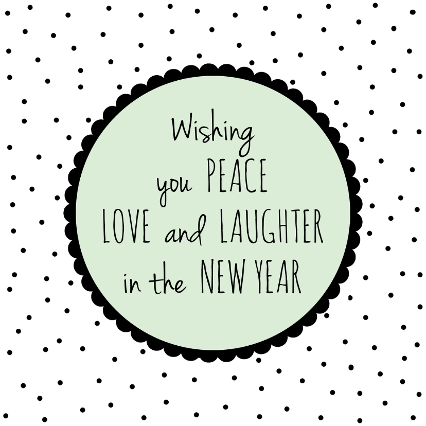 Nieuwjaarskaarten - Nieuwjaarskaartje Dots - WW