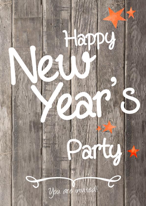 Nieuwjaarskaarten - Oud en Nieuw feest - uitnodiging