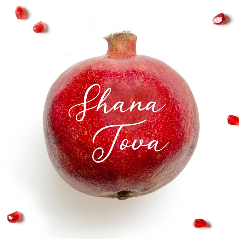 Nieuwjaarskaarten - Shana Tova joods nieuwjaarskaart