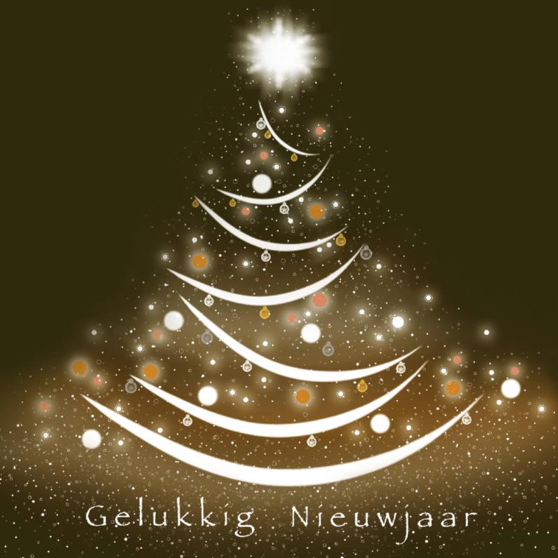 Nieuwjaarskaarten - Sprankelend nieuwjaar-kerstboom