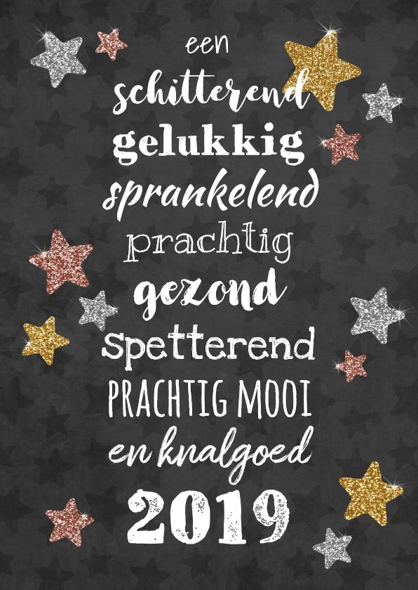 Nieuwjaarskaarten - Sprankelende nieuwjaarskaart met alle beste wensen!