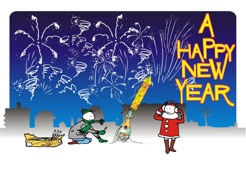 Nieuwjaarskaarten - Super vuurwerk