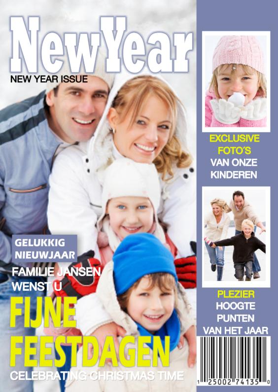 Nieuwjaarskaarten - Tijdschrift Nieuwjaar COLLAGE