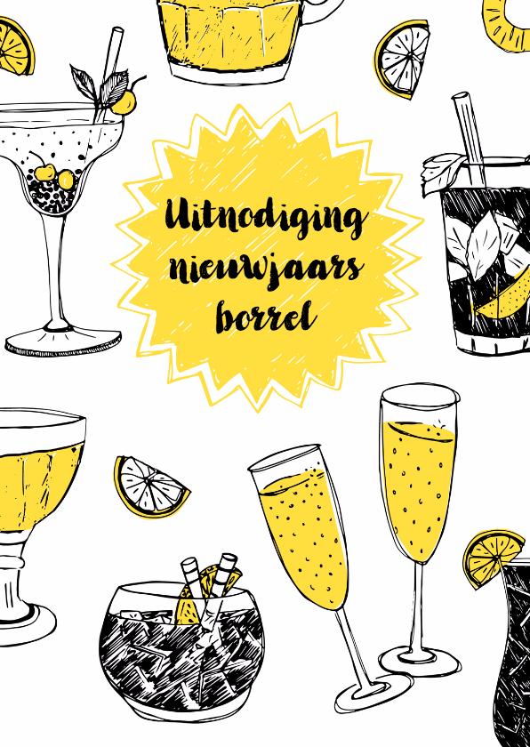 Nieuwjaarskaarten - Uitnodiging nieuwsjaarsborrel