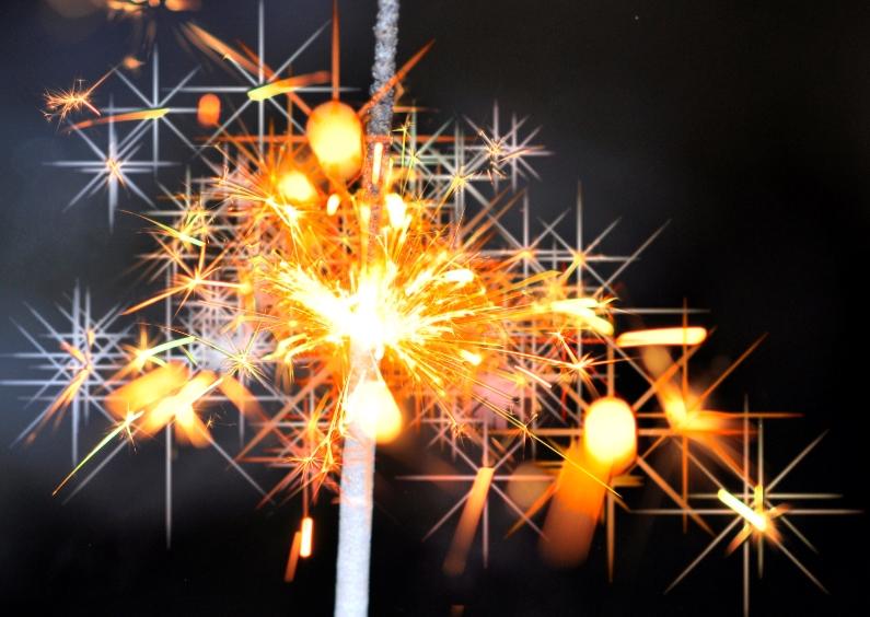 Nieuwjaarskaarten - vuurwerk ster