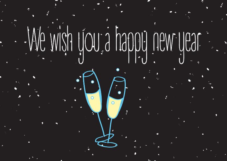 Nieuwjaarskaarten - We wish you a happy new year