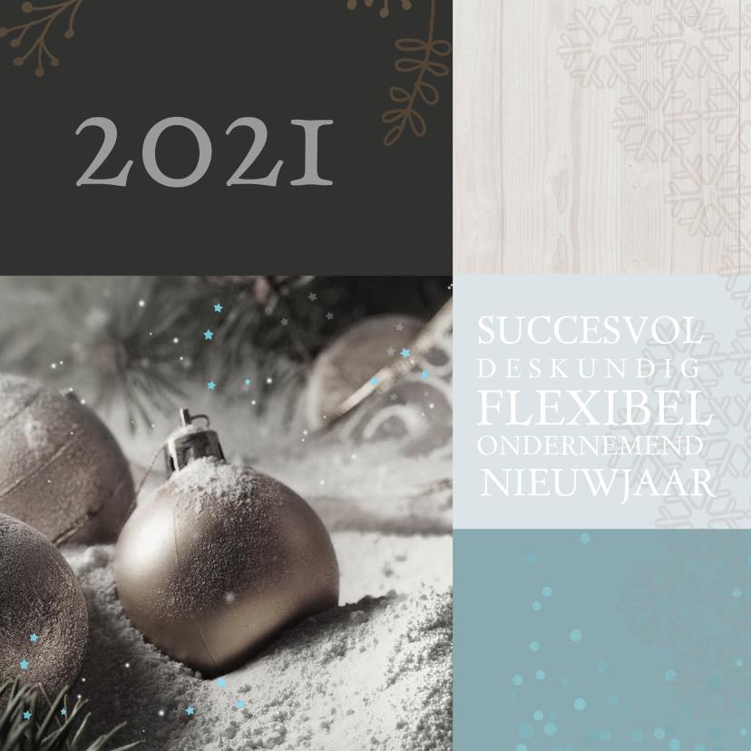 Nieuwjaarskaarten - Zakelijke nieuwjaarskaart blauw av