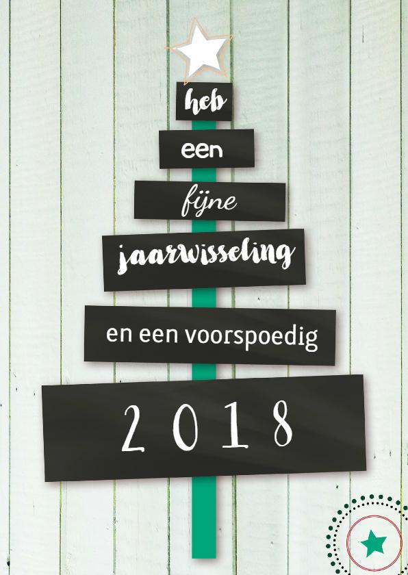 Nieuwjaarskaarten - Zakelijke nieuwjaarskaart eigen tekst informeel