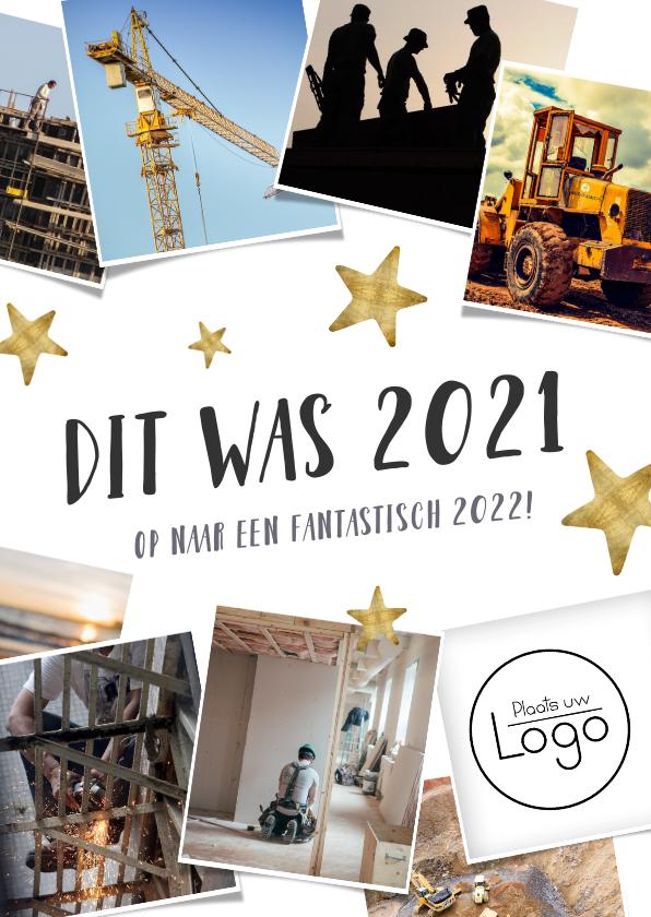 Nieuwjaarskaarten - Zakelijke nieuwjaarskaart terugblijk 2021 fotocollage