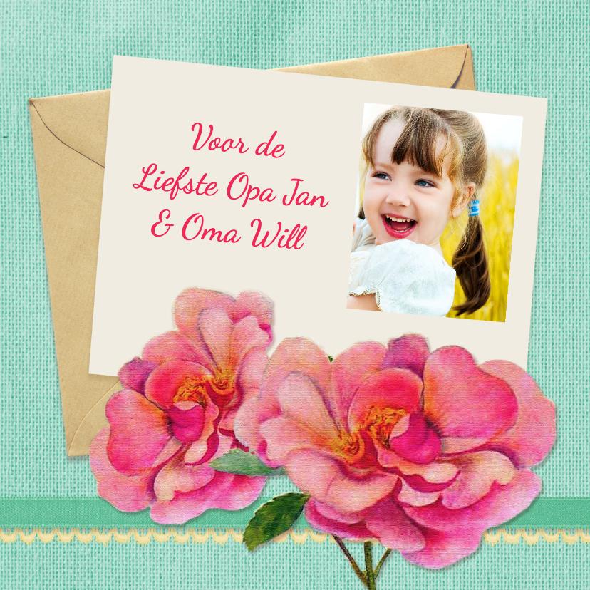 Opa en Oma kaarten - Opa en Oma dag bloemen foto
