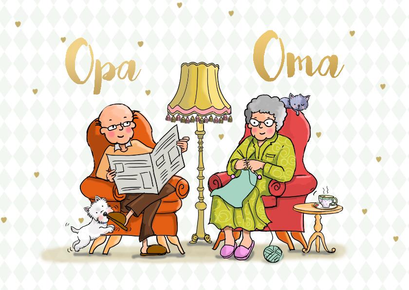 Opa en Oma kaarten - Opa en Oma dag fauteuil av