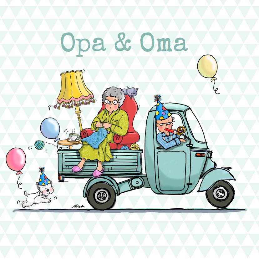 Opa en Oma kaarten - Opa en Oma  Dag Vespa Ape av