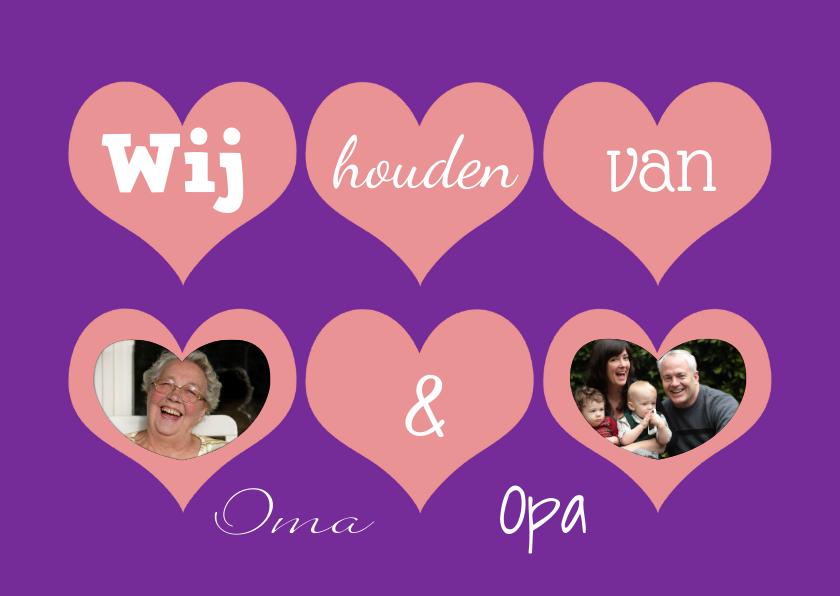 Opa en Oma kaarten - Wij houden van Oma & Opa - BK