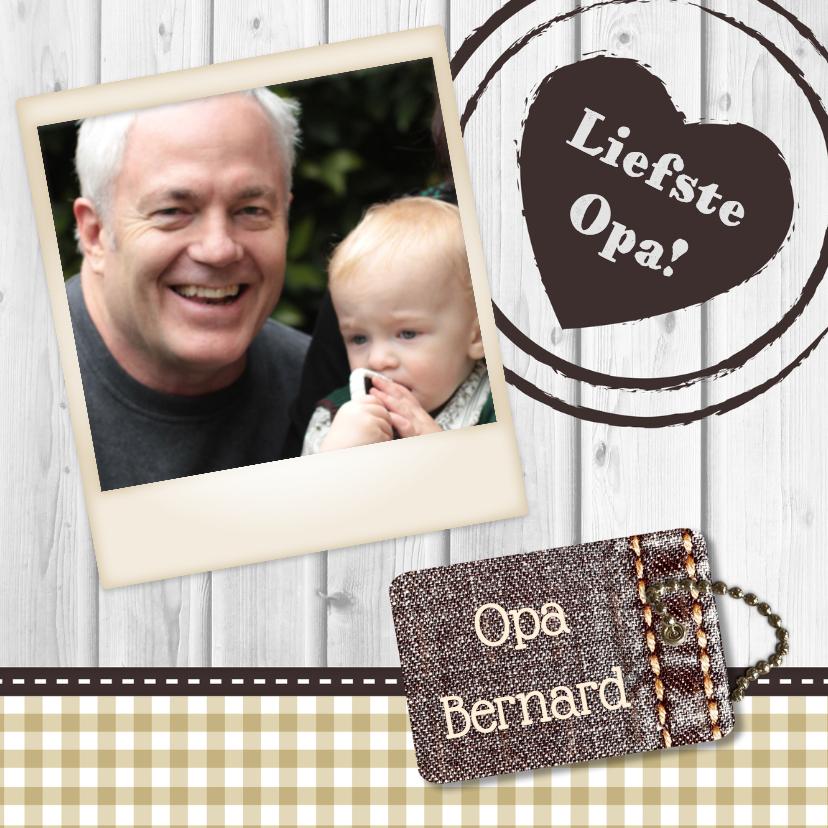 Opa & Omadag kaarten - Hout met Label Opa - BK