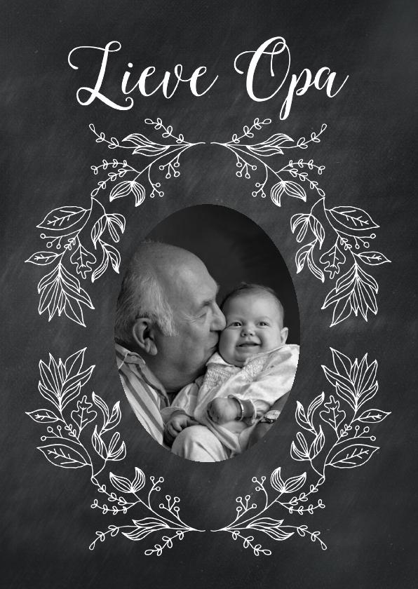 Opa en Oma kaarten - Krijtbord bloem opa-isf
