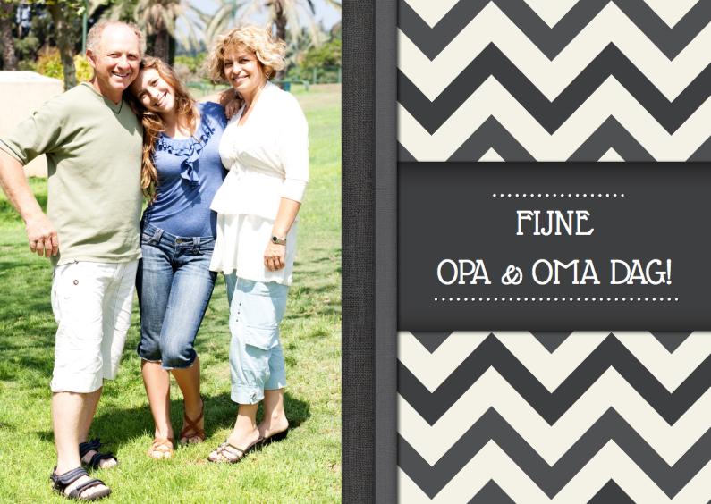 Opa & Omadag kaarten - Opa en Oma dag Zigzag Foto