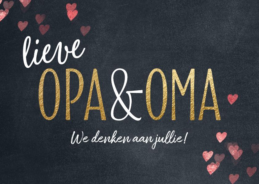 Uitgelezene Opa en Oma wenskaart - Opa en Oma kaarten | Kaartje2go JF-85