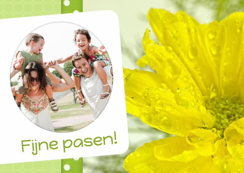 Paaskaarten - Bloemenkaart pasen geel