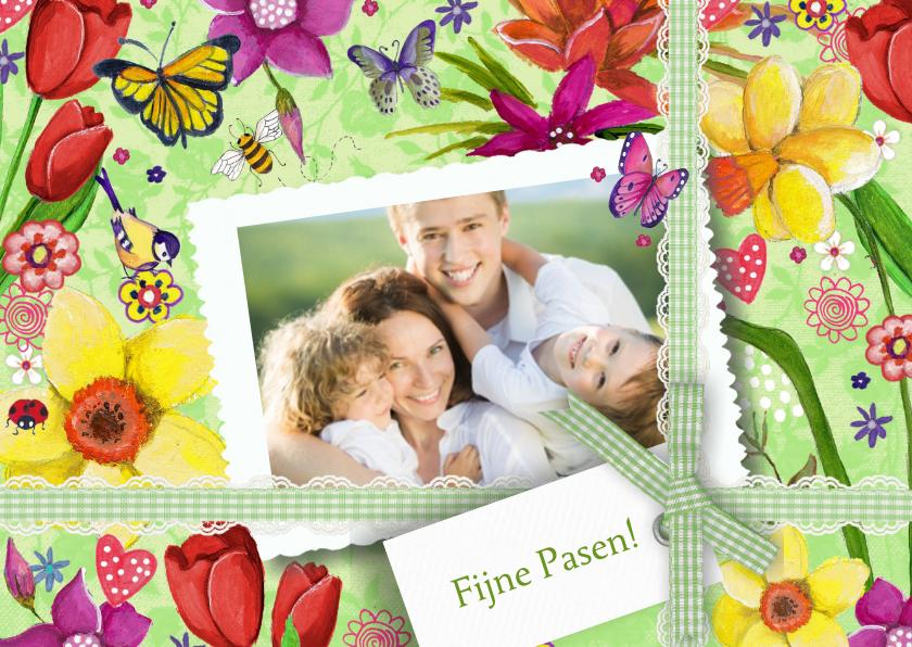 Paaskaarten - Fijne Pasen Narcissen