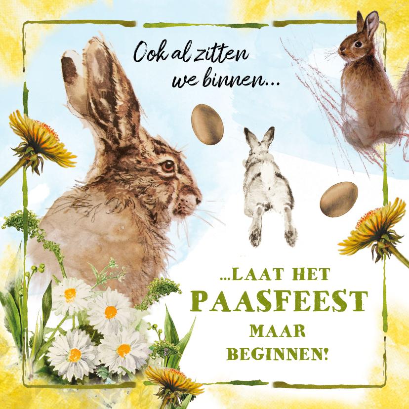 Paaskaarten - Niet bij elkaar, dus een kaartje voor Pasen