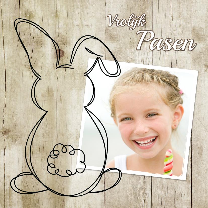 Paaskaarten - Paashaas doodle en foto