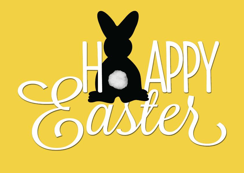Paaskaarten - Paaskaart happy easter bunny