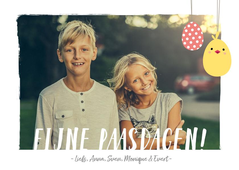 Paaskaarten - Paaskaart met eigen foto en aanpasbare tekst fijne paasdagen