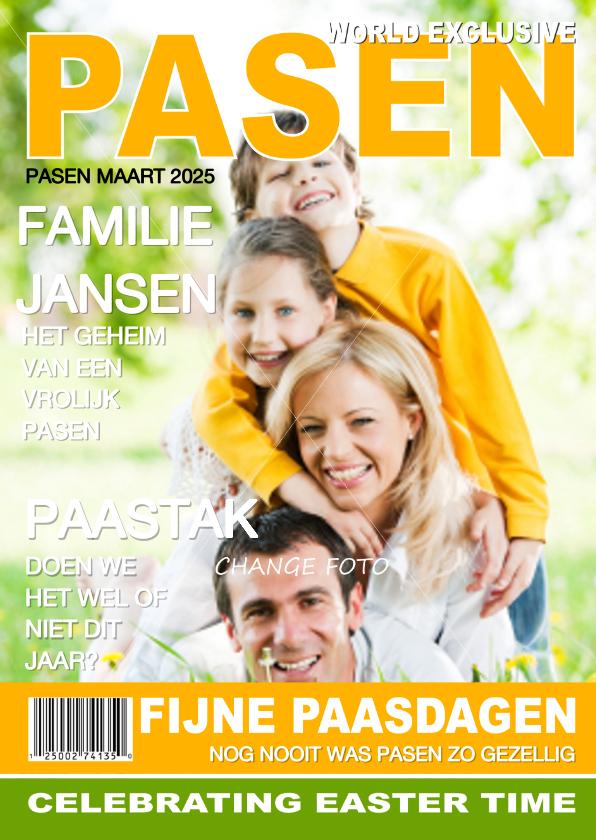 Paaskaarten - Vrolijk pasen tijdschrift eigen foto